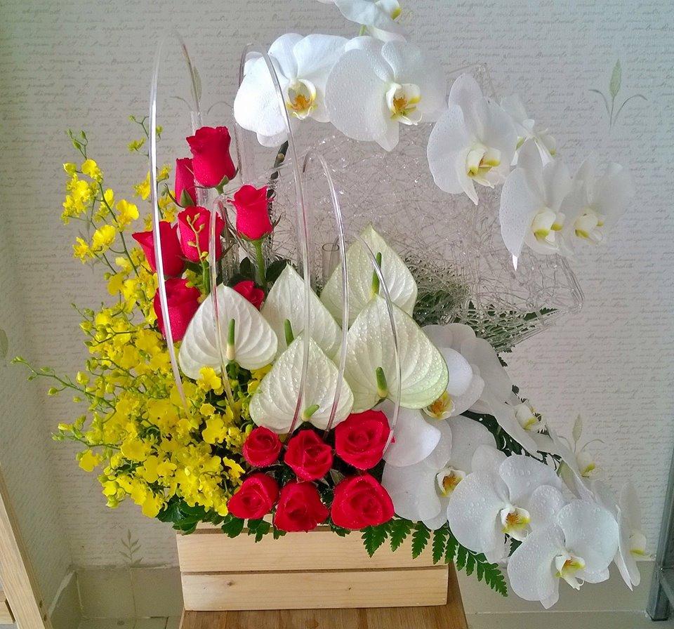 Hoa tặng sinh nhật sếp